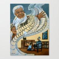 Koro, The Maori Storytel… Canvas Print