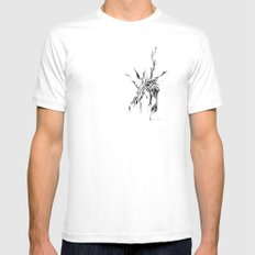 Hydra White SMALL Mens Fitted Tee