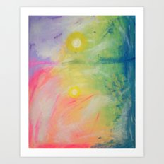 Impressions At Sundown  Art Print