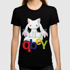 Kyubey Womens Fitted Tee Black SMALL