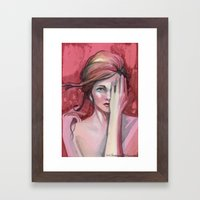 Strawberry Flirt Framed Art Print