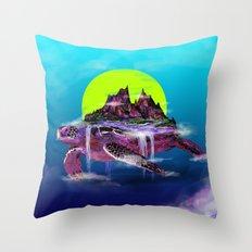 Turtle Paradise Throw Pillow