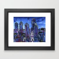 Starry Philadelphia Framed Art Print