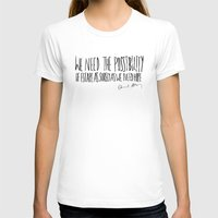 Escape x Alaska Womens Fitted Tee White SMALL