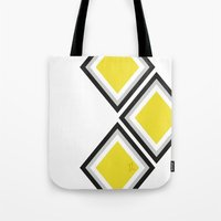 Bumblebee Triangles Tote Bag