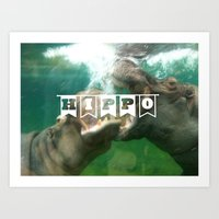 Hippo...hippo... Art Print