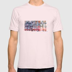 Apartment House in Poznan and orange umbrellas Mens Fitted Tee Light Pink SMALL