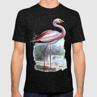 Puna Flamingo Mens Fitted Tee Tri-Black SMALL