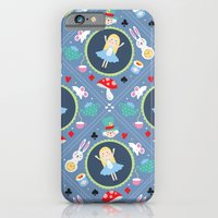 alice in wonderland iPhone & iPod Cases featuring Wonderland by Emily Golden