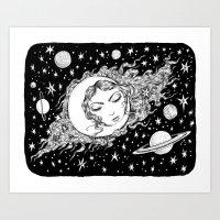 Midnight Muse Moon Love Art Print