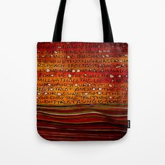 LINE AND WORDS -1 in color Tote Bag