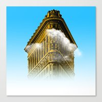 Flat Iron Graphic Canvas Print