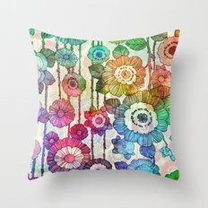 Hanging Flower Garland #2 Throw Pillow