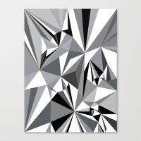 Diamond Grey Canvas Print
