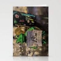 Froggy Reads the Wall Street Journal Stationery Cards