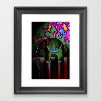 Green Elephant Framed Art Print