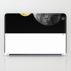 Orson - minimal black and gold modern marble abstract painting dark skywatching galaxy planets space iPad Case