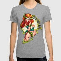 IVY Womens Fitted Tee Tri-Grey SMALL