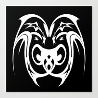 Tribal Star Owl Canvas Print