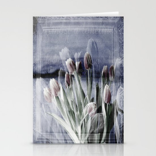 Paint me tulips Stationery Card