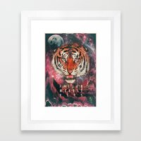 MYSTIC//TIGER Framed Art Print