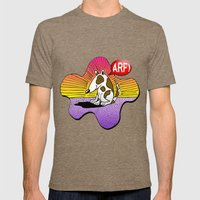 Happy Dog Mens Fitted Tee Tri-Coffee SMALL