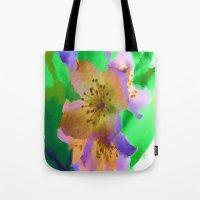 Purple Flowers - Watercolour Painting Tote Bag