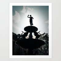 Heavenly Fountain Art Print