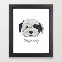 Old English Sheep Dog Framed Art Print