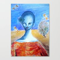 She Sang for the Dragonflies Canvas Print