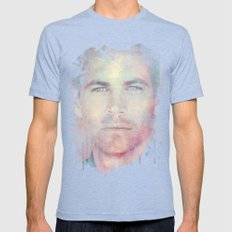PAUL WALKER R.I.P Mens Fitted Tee Tri-Blue SMALL