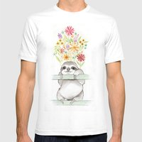 Le Sloth Mens Fitted Tee White SMALL