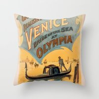 Vintage Theatrical Poste… Throw Pillow
