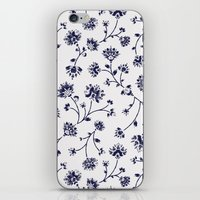 Indigo Floral Trail (reversed) iPhone & iPod Skin