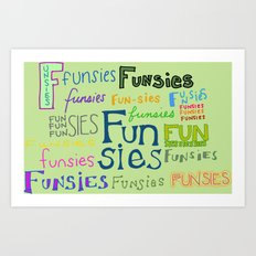 Funsies, 2 Art Print