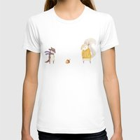 autumn T-shirts featuring The Last Acorn of Autumn by Teagan White