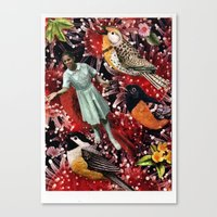 Happy Bird day | Collage Canvas Print