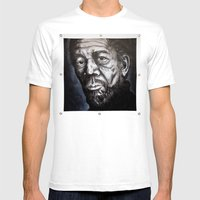 Morgan Freeman Mens Fitted Tee White SMALL