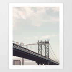 Manhattan Bridge Close U… Art Print
