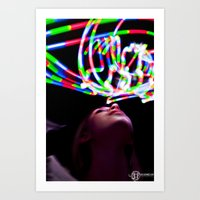 Trippy light painting Art Print