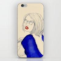 Smoking girl iPhone & iPod Skin
