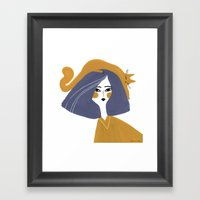 MUST ADD CAT TO PAINTING Framed Art Print