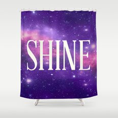 Shine Galaxy  Shower Curtain