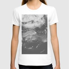 STRANGER Womens Fitted Tee White SMALL