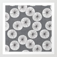 Umbrellas by Friztin Art Print
