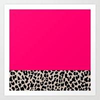 Minimal Leopard Art Print