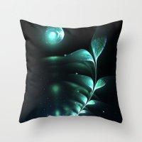 Alien Plant Throw Pillow