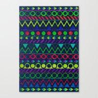Billy Aztec Canvas Print