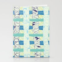 Doodled Checks Stationery Cards