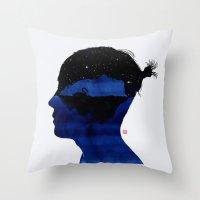 孤岛II - Swan lake Throw Pillow
